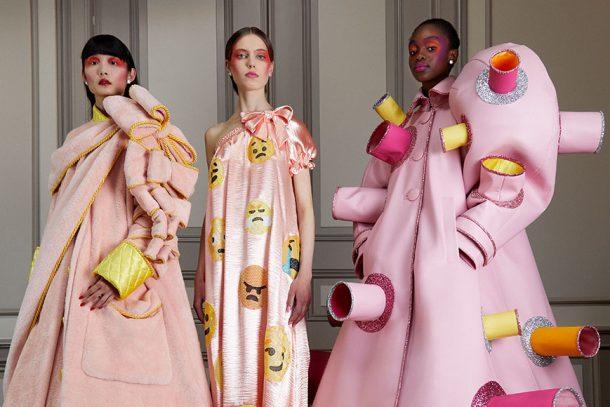 把 Emoji 融入高訂設計!Viktor & Rolf Haute Couture Fall 2020