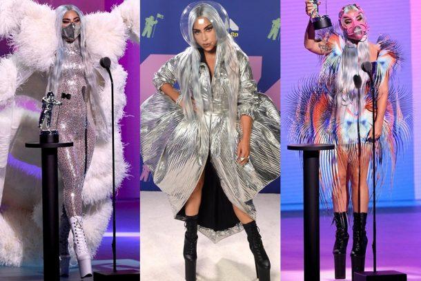 只有 Gaga 能超越 Gaga !一口氣換上 9 個防毒面具造型稱霸 VMAs 舞台!