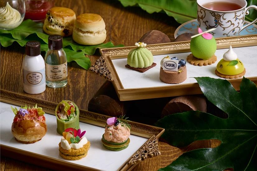 九龍香格里拉大酒店 x SABON 季節限定「幸福綠園」下午茶